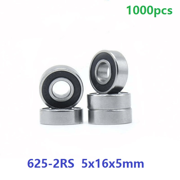 1000pcs/lot 625RS <font><b>625</b></font>-2RS <font><b>625</b></font> <font><b>RS</b></font> 2RS Miniature ball <font><b>bearings</b></font> 5*16*5mm Deep Groove Ball <font><b>bearing</b></font> 5x16x5mm image