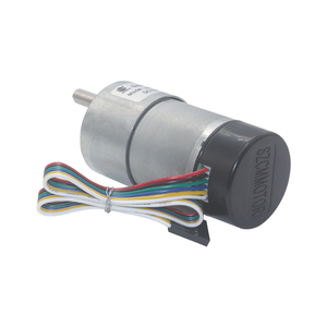 Image 5 - 12V 24VDC 7 1600RPM 37mm Gearbox High Torque Eccentric Shaft Gear Motor With Hall Encoder Geared Motors with protective cap