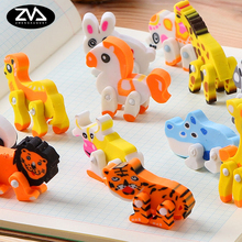 4 pcs /bag  Cute animals  rubber eraser creative stationery school supplies papelaria gift for kids free delivery