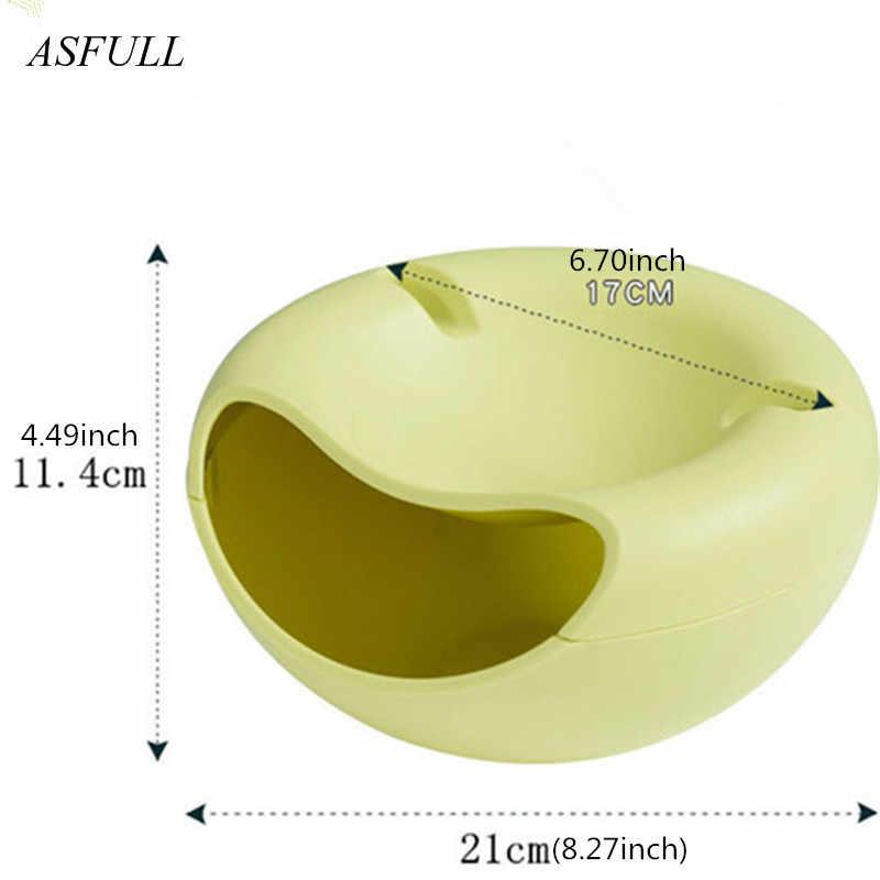ASFULL Creativo Caramelle Noci Soggiorno Semi di Melone Frutta Secca Piatto Piatto di Frutta Piatto di Supporto Del Telefono Dell'organizzatore di Immagazzinaggio Scatole Per Il Tempo Libero