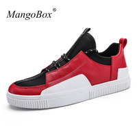 2018 New Arrival Men S Shoes Casual Fashion Popular Men Casual Pu Leather Shoes Red Casual
