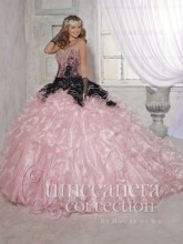 2016 Pink Black Quinceanera Dresses Ball Gown Lace Appliques Beads Cheap Sweet 16 Dress Formal Gowns Vestidos De 15 Anos QD87