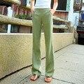 Calças de algodão calça casual calças de linho calças perna larga das mulheres calças de verão calças femininas