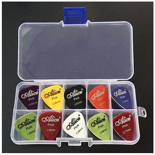 Alice Guitar Pick 1 box case 40 Pieces plectrum mediator mix 0.58-1.5 alice ad10d microphone stand guitar pick