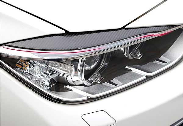 Real Carbon Fiber Eyebrows Eyelids 320i 328i 335i for BMW F30  2012-2014