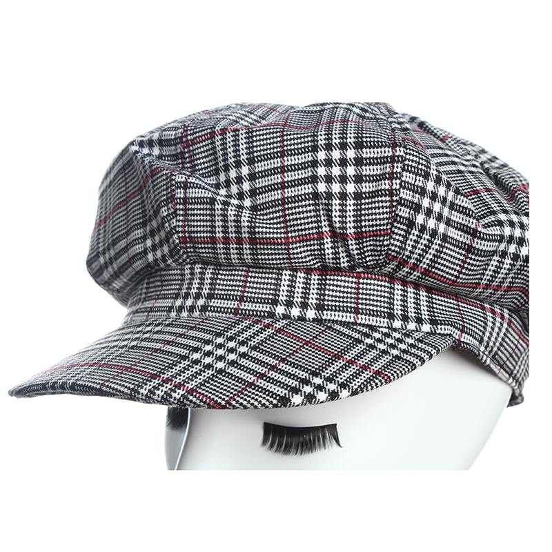 HW Boutique Newsboy Caps For Women Autumn Winter Unisex Casual Retro Newsboy Cap New lattice octagonal hat fashion female hat in Men 39 s Newsboy Caps from Apparel Accessories