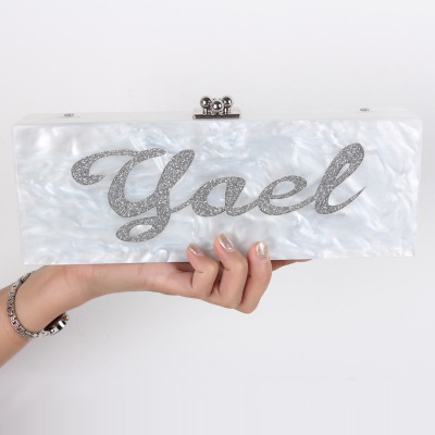 все цены на Personalized Own Name Custom Acrylic Clutch Bridal clutch Evening clutch Handbag Shoulder Bag Mother Pearl Acrylic Clutch Purse