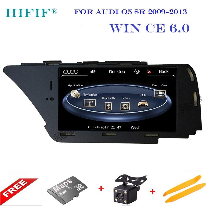 Авто мультимедийный автомобильный dvd плеер для Audi Q5 A4 A5 с gps навигации радио ТВ BT USB SD AUX Карта Аудио Видео Стерео бесплатная карты
