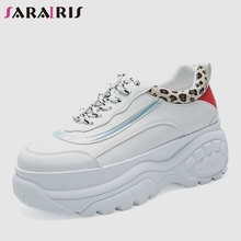 SARAIRIS 2019 New Ins Hot Large Size 36-41 Leopard Sneakers Women Fashion High Dad Shoes Casual Woman