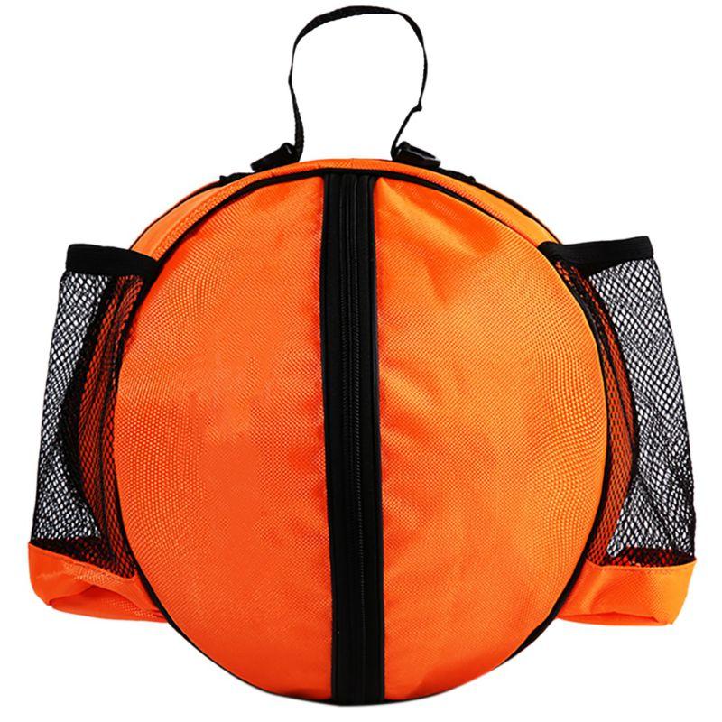 Круглая Сумка для мячей, рюкзак для баскетбола, волейбола, футбола, регулируемый наплечный ремень, сумки для хранения-5