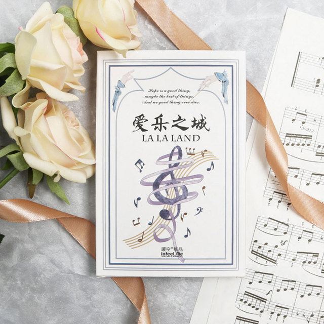 30 Pcs Lot Music City Musical Instruments Postcard Birthday Greeting Card Christmas Message