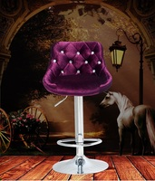 Hair Salon Furniture Shop Chair Hairdressing Black Coffee Lift Stool Free Shipping Rose Red Design Computer