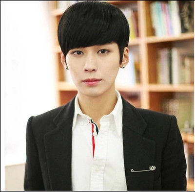 Boys Handsome Mens Short Straight Wig Black Fashion Korean Style