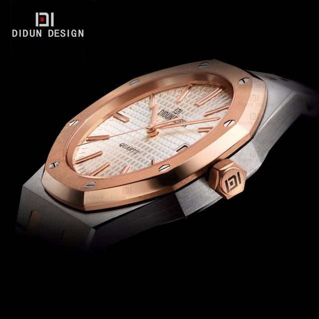 DIDUN Steel mens watches top brand luxury Watches men Brand Quartz Watches Men Business Simple Watch Luminous Wristwatches