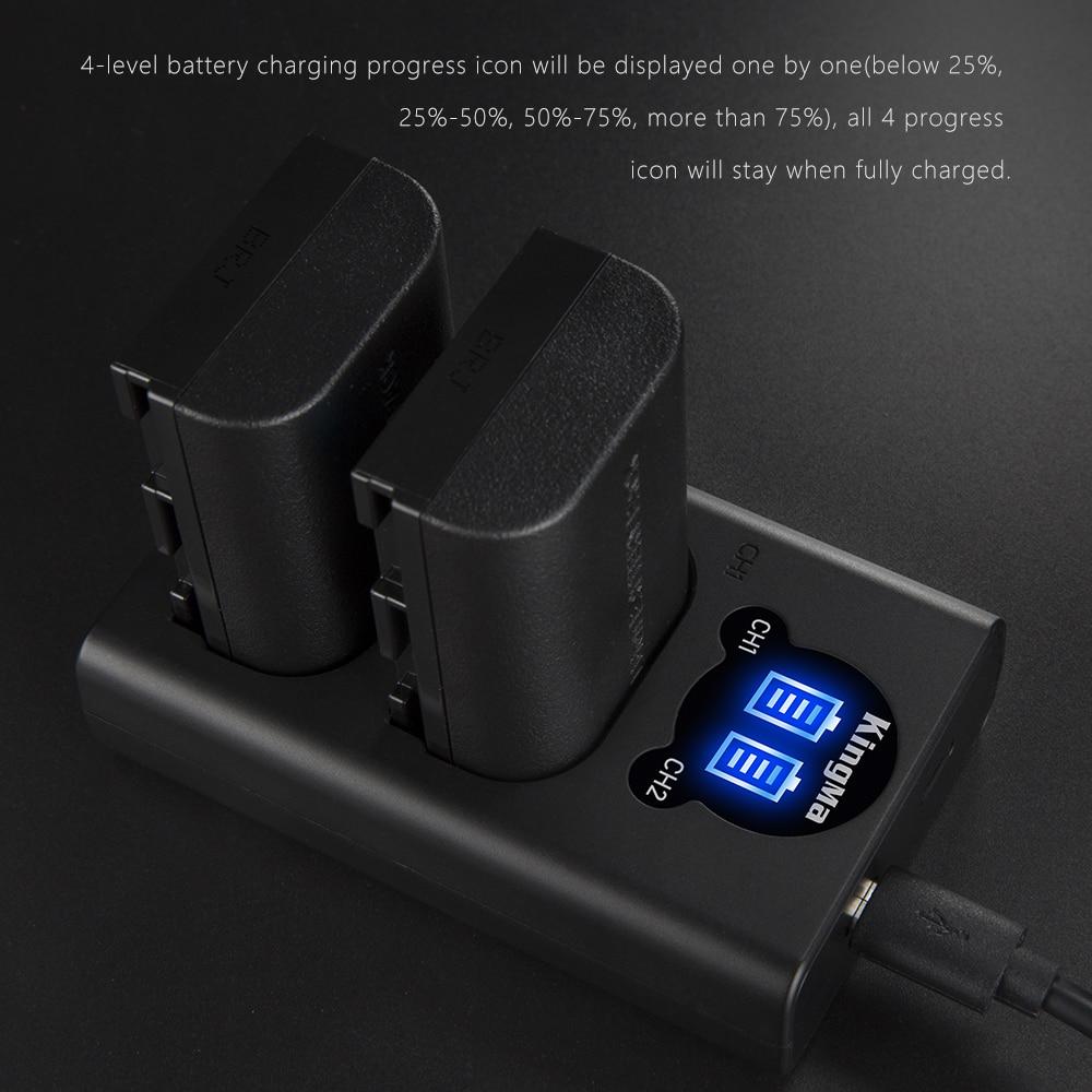 KingMa LP-E6 Batterie et LCD Double Kit de Chargeur de Batterie pour Canon EOS R 5D4 70D 6D 5D3 5D2 5DSR 7D 7D2 6D2 5D3 80D 60D LP-E6N - 4