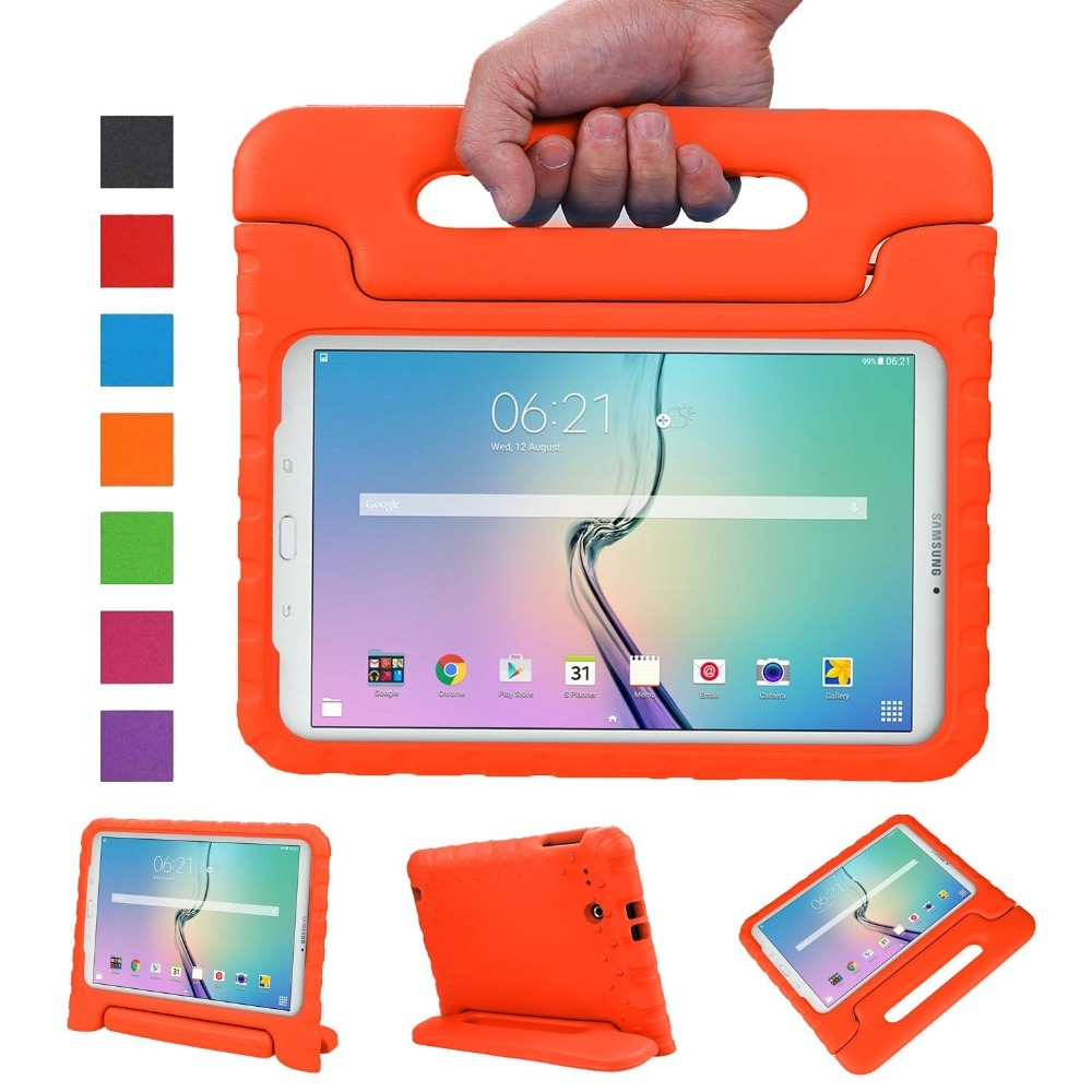 Shockproof Light Weight Protection Handle Stand Kids Case for Samsung Galaxy Tab E / Tab E Nook 9.6 Inch 2015 Tablet for samsung galaxy tab 4 10 1 t530 case tab 3 10 1 inch p5200 tablet kids foam back case handle stand cover shockproof
