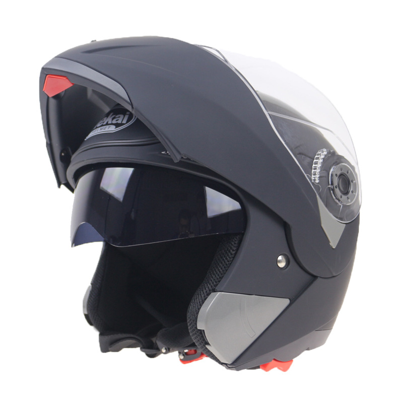 Full face helmet motorcycle double visor racing motorcyclist motocross flip up helmetFull face helmet motorcycle double visor racing motorcyclist motocross flip up helmet