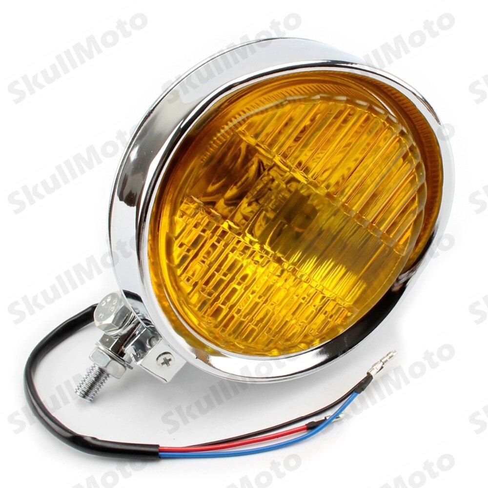 """Retro Black Clear 5.8"""" Motorcycle Visor Vintage Headlight Custom Bobber Cruiser"""