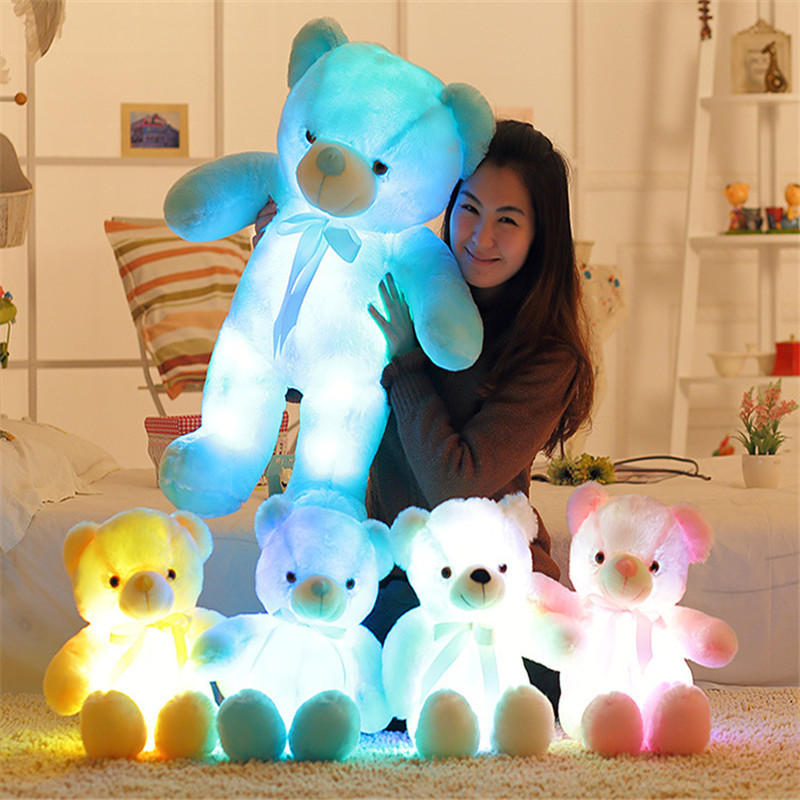 30cm/50cm Creative Light Up LED Teddy Bear Stuffed Animals Plush Toy Colorful Glowing Teddy Bear Christmas Gift for Kids недорго, оригинальная цена