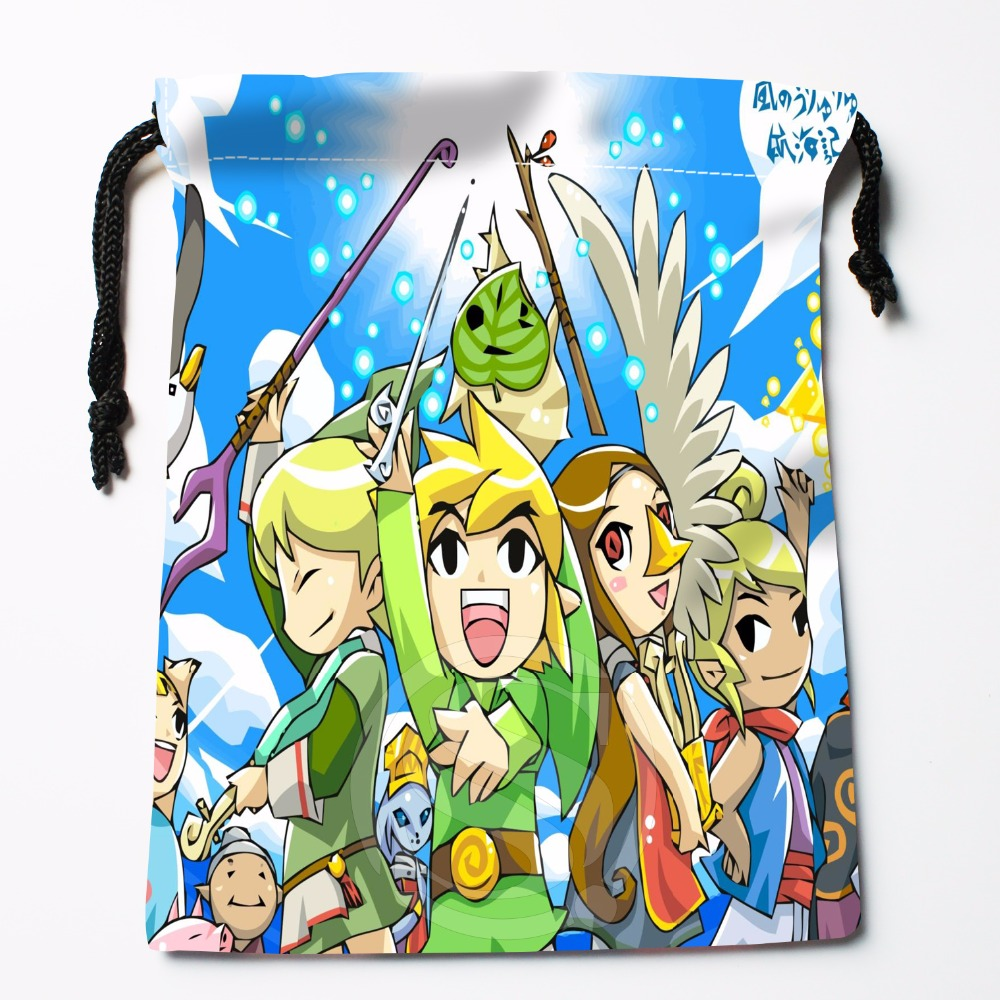 Fl-Q127 New The Legend Of Zelda &9 Custom Printed  Receive Bag  Bag Compression Type Drawstring Bags Size 18X22cm 711-#Fl127