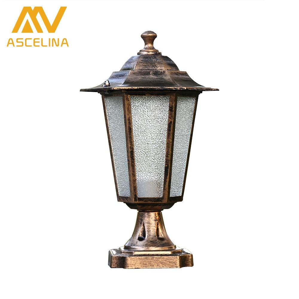 Us 30 0 35 Off Ascelina Retro Outdoor Lighting Wall Lamps Led Waterproof Black Fixtures Stigma Lights Porch Light E27 85 260v In