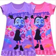501bbc868 Kids Princess Clothes Children Party Clothing Nightgown Baby Girl Pajamas  New Vampirina Toddler Girl Sleepwear Summer