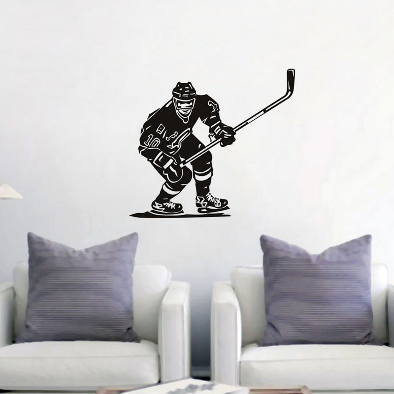 Palla di hockey su Adesivi Murali Decorazioni Murali Camera Da Letto ...