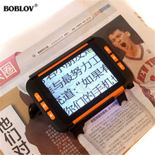 """BOBLOV 3.5""""Color LCD 2X-32X Zoom Electronic Reading Aid Video Magnifier for Low Vision Digital Handheld portable Video Magnifier"""