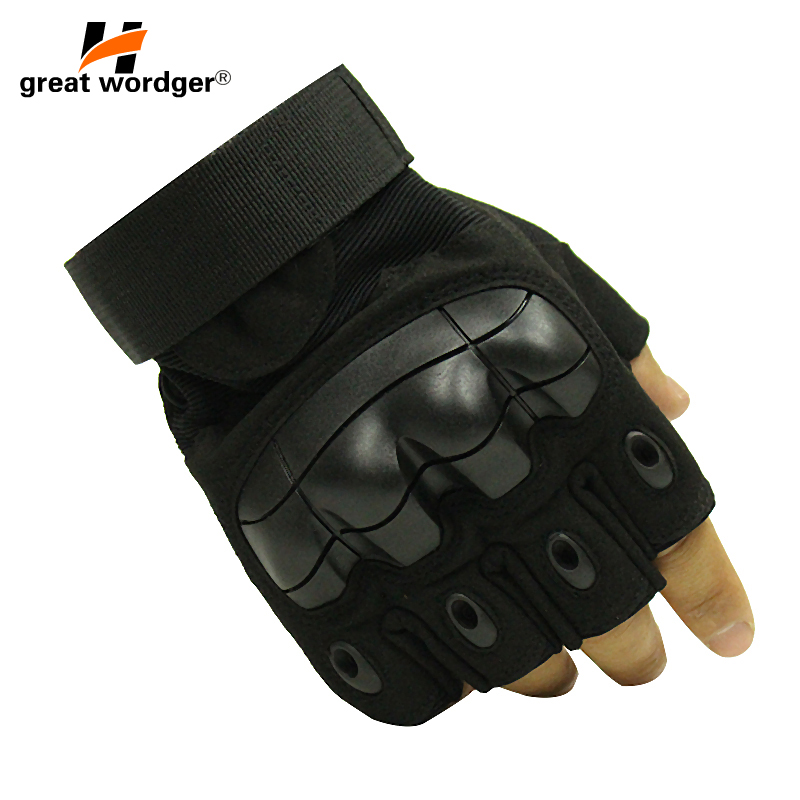 Outdoor Cycling Gloves Army Tactical Luvas Taticas Motorcycle Sports Hiking Men Airsoft  Fingerless