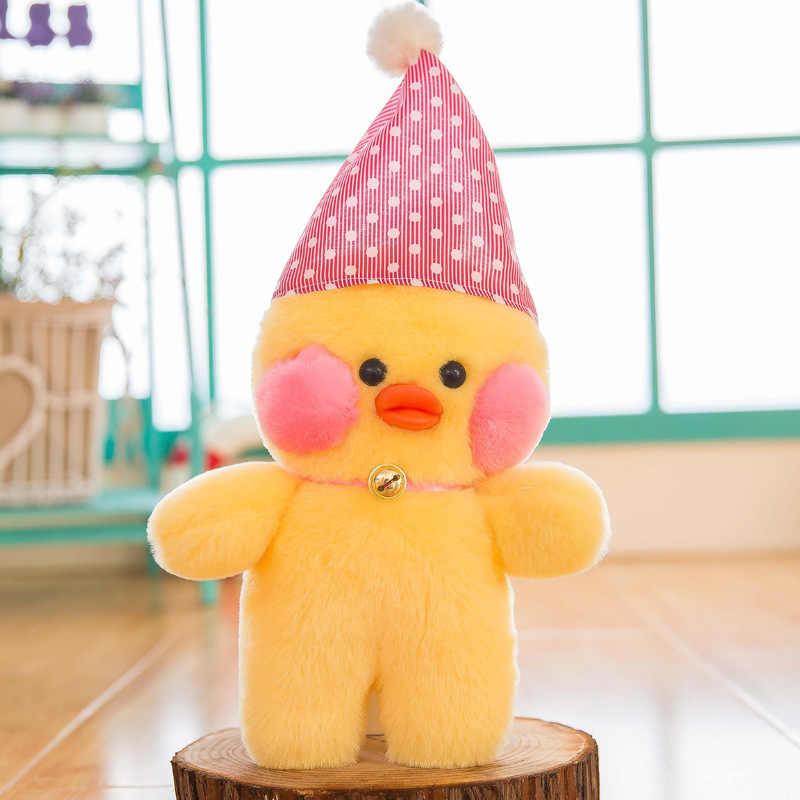 1 Pcs 26 cm 5 Estilos Pato Amarelo Brinquedo De Pelúcia Pequeno Bonito Pato pato de Pelúcia Boneca em Vidro da Boneca com Chapéu Do Natal Do Bebê presente