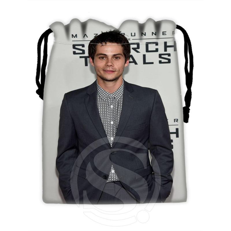H-P707 Custom Dylan O'brien#6 Drawstring Bags For Mobile Phone Tablet PC Packaging Gift Bags18X22cm SQ00806#H0707