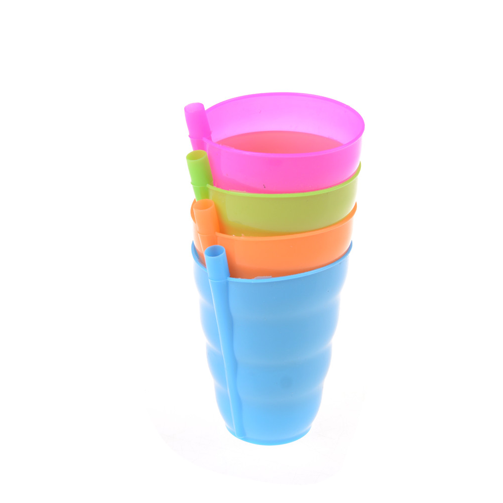 4 x Children Sip a Cup Tumblers with Built in Straw Plastic Sippy Cup