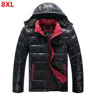 Large size winter jacket Men's Down Jacket Men's Large Size with Hat Detachable Casual Down Jacket