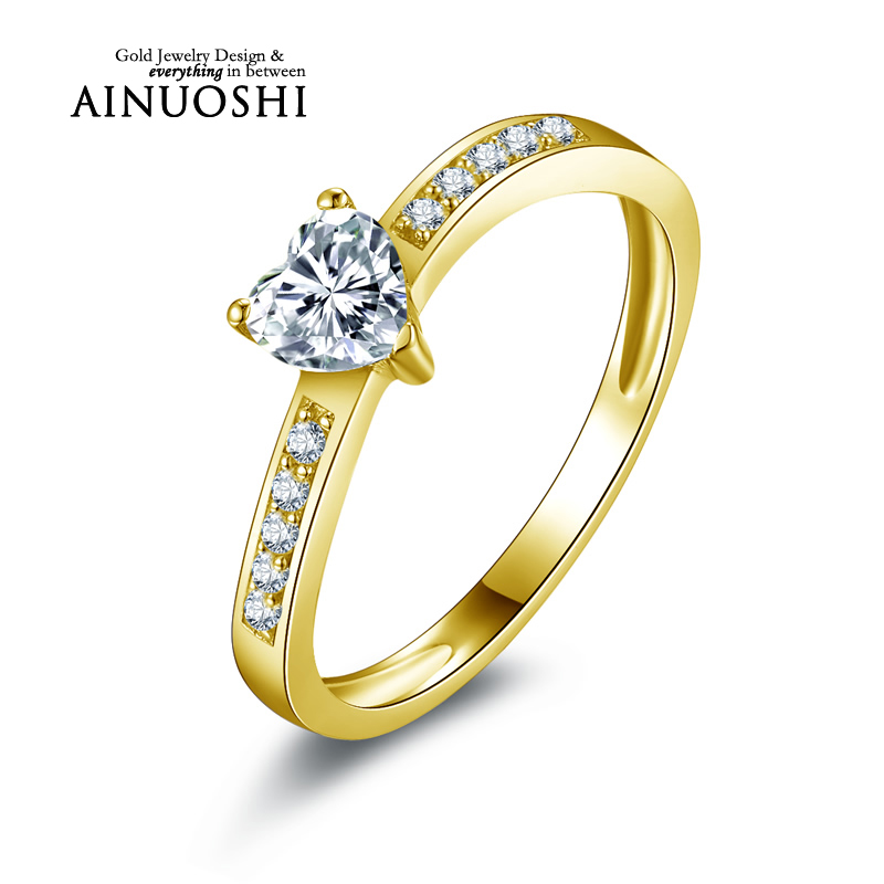 Diamantring herz gold  Online Kaufen Großhandel diamant ring herz gold aus China diamant ...