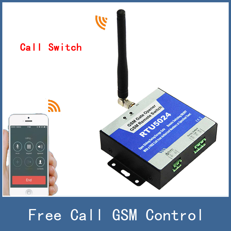 Newest Free Call GSM Wireless Remote Access Control Gate Door Opener Relay Switch , RTU5024 , FreeShipping oem remote controller gsm gate opener switch for control home appliance rtu5024 parking systems