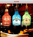 Mode vintage weinflasche Suspension Leuchte Pendelleuchten Lamparas Personalisierten Bar Dekoration lampe