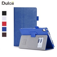 DULCII For Lenovo Tab 4 8 Plus 8 0 Inch Case Folio PU Leather Stand Holder