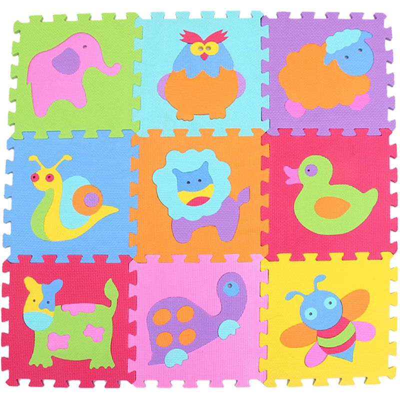 Baby Eva Foam Play Puzzle Mat 9pcs Lot Interlocking