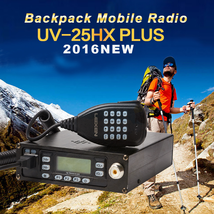 Backpack Mobile Transceiver Automotive Radio Station LEIXEN UV25HX Plus 136-174MHz / 400-480MHz VV VU UU Dual Receiver Car Station