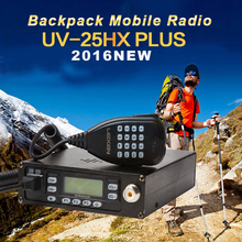 Backpack Mobile Transceiver Automotive Radio Station LEIXEN UV25HX Plus 136-174MHz/400-480MHz VV VU UU Dual Receiver Car Station