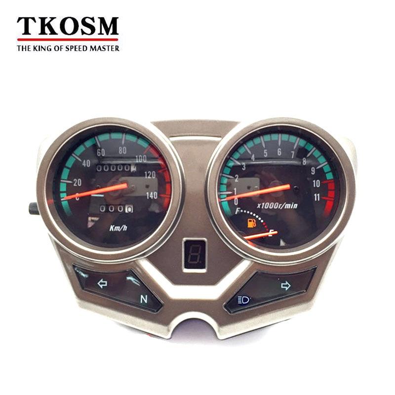 Tkosm New Motorcycle Speedometer Odometer Meter Backlight