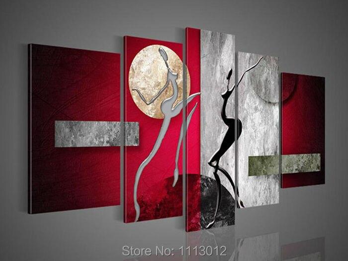 Chunky Encadrée Toile D/'art A1 rouge abstrait mur photo