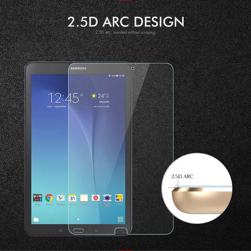 Full Covers 9H Tempered Glass For Samsung Galaxy Tab E 9 6 T560 T561 9 6 inch Screen Protector Protective Film in Tablet Screen Protectors from Computer Office