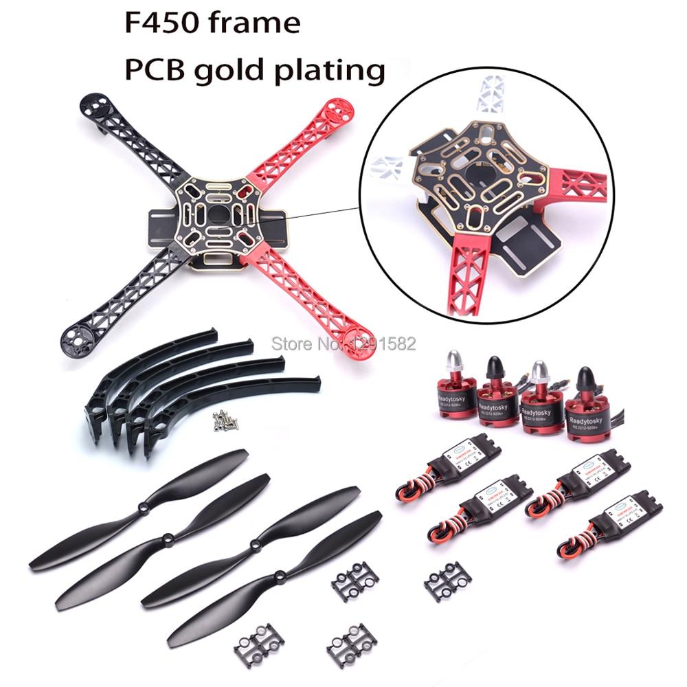 F450 450mm Quadcopter Kit Frame 2212 920kv 2212 1000KV motor 30A ESC 1045 propeller