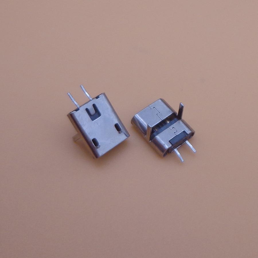 500pcs 2 pin mini MICRO USB 2 Pin Jack Interface Connector socket SMD SMT pcb dock