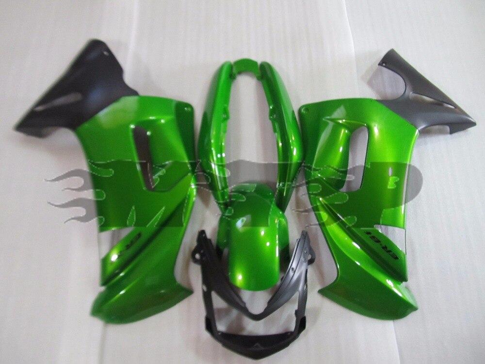 Kit de carénage moto ABS ER6F travail du corps pour Kawasaki Ninja 650R ER 6F 2006 2007 2008 ER 6F 06 07 08 couverture complète vert