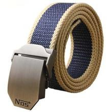 Largo tejido cinturón de lona para hombre cinturón Casual carga marca cinturones  hebilla automática cinturón masculino 301ee90e47f5