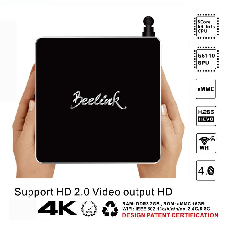 Beelink R68 Android TV Box RK3368 64bits Octa core 2GB DDR3 16GB WiFi Bluetooth 4 0
