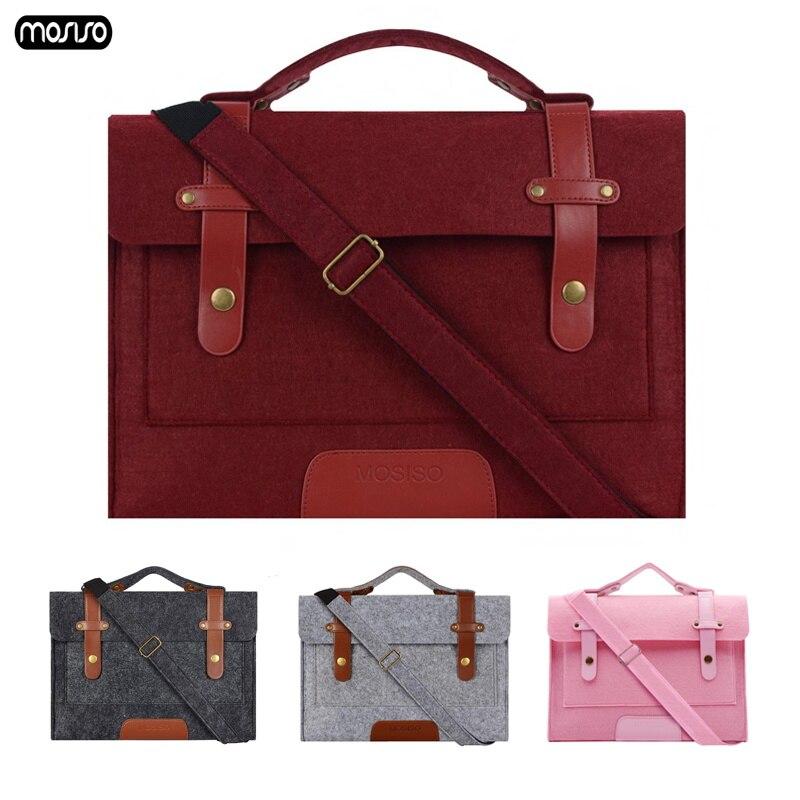 MOSISO 13 13.3 15.6 Inch Super Light Wool Felt Laptop Bag Handbag For MacBook Lenovo Dell HP Asus Computer Shoulder Bag Men Wome