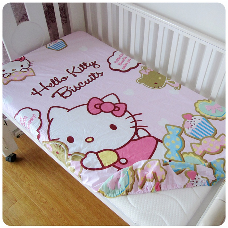 Hot Cotton Baby Ed Sheet Cartoon Crib Mattress Cover Elastic Around Kids Bed 120 70 5cm Children In Sheets From Mother On